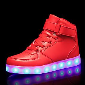 povoljno Dječje cipele-Djevojčice Svjetleće tenisice PU Sneakers Dijete (9m-4ys) / Mala djeca (4-7s) / Velika djeca (7 godina +) LED Crn / Srebro / Crvena Proljeće ljeto / Guma
