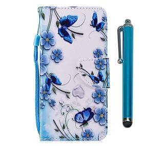 voordelige Galaxy S7 Edge Hoesjes / covers-hoesje Voor Samsung Galaxy S9 / S9 Plus / S8 Plus Portemonnee / Kaarthouder / met standaard Volledig hoesje Vlinder Hard PU-nahka