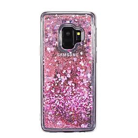 voordelige Galaxy S7 Edge Hoesjes / covers-hoesje Voor Samsung Galaxy S9 / S9 Plus / S8 Plus Stromende vloeistof Achterkant Hart Zacht TPU