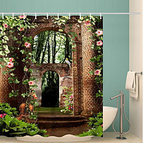 cheap Bathroom Gadgets-Shower Curtains & Hooks Contemporary Polyester Novelty Waterproof Bathroom