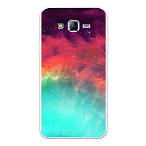 voordelige Galaxy J7(2017) Hoesjes / covers-hoesje Voor Samsung Galaxy J7 (2017) / J7 (2016) / J7 Patroon Achterkant Landschap / Cartoon / Kleurgradatie Zacht TPU