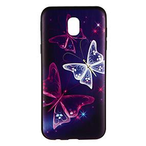 voordelige Galaxy J5(2017) Hoesjes / covers-hoesje Voor Samsung Galaxy J7 (2017) / J5 (2017) / J5 Patroon Achterkant Vlinder Zacht TPU