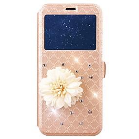 voordelige Galaxy J7(2017) Hoesjes / covers-hoesje Voor Samsung Galaxy J7 (2017) / J5 (2017) / J3 (2017) Kaarthouder / Strass / met standaard Volledig hoesje Geometrisch patroon Hard PU-nahka