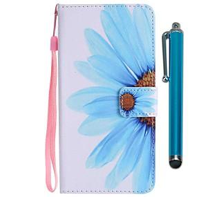 voordelige Galaxy S7 Hoesjes / covers-hoesje Voor Samsung Galaxy S9 / S9 Plus / S8 Plus Portemonnee / Kaarthouder / met standaard Volledig hoesje Bloem Hard PU-nahka