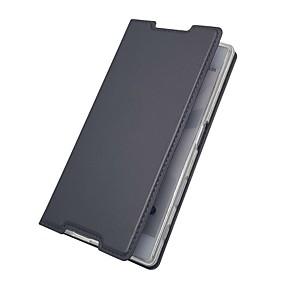 povoljno Sony-Θήκη Za Sony Sony Xperia Z5 / Z5 Mini / Xperia XZ1 Compact Utor za kartice / sa stalkom / Zaokret Korice Jednobojni Tvrdo PU koža