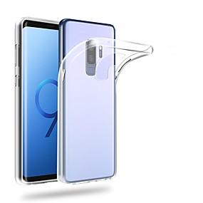 olcso Galaxy S9 Plus tokok-Case Kompatibilitás Samsung Galaxy S9 / S9 Plus / S8 Plus Ultra-vékeny / Átlátszó Fekete tok Egyszínű Puha TPU
