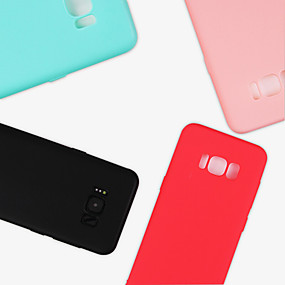 voordelige Galaxy S7 Edge Hoesjes / covers-hoesje Voor Samsung Galaxy S9 / S9 Plus / S8 Plus Mat Achterkant Effen Zacht TPU