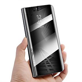Недорогие Чехлы и кейсы для Huawei Mate-Кейс для Назначение Huawei Mate 10 / Mate 10 pro / Mate 10 lite Защита от удара / со стендом / Зеркальная поверхность Чехол Однотонный Твердый Кожа PU