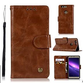 Недорогие Чехлы и кейсы для Huawei Honor-Кейс для Назначение Huawei Honor 9 / Honor 8 Pro / Honor 7X Кошелек / Бумажник для карт / со стендом Чехол Однотонный Твердый Кожа PU