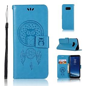 voordelige Galaxy S7 Edge Hoesjes / covers-hoesje Voor Samsung Galaxy S9 / S9 Plus / S8 Plus Portemonnee / Kaarthouder / Flip Volledig hoesje Uil / Dromenvanger Hard PU-nahka