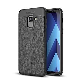 Недорогие Чехлы и кейсы для Galaxy A7(2016)-Кейс для Назначение SSamsung Galaxy A3 (2017) / A5 (2017) / A7 (2017) Рельефный Кейс на заднюю панель Однотонный Мягкий ТПУ