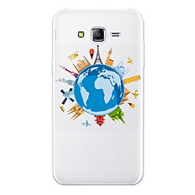 voordelige Galaxy J3 Hoesjes / covers-hoesje Voor Samsung Galaxy J7 (2017) / J7 (2016) / J7 Patroon Achterkant Cartoon / Uitzicht op de stad Zacht TPU