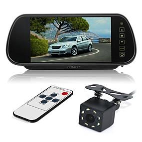 voordelige Auto-elektronica-ziqiao 7 inch kleuren tft lcd auto achteruitkijkspiegel monitor en 8 led ccd hd auto achteruitrijcamera