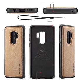 voordelige Galaxy S7 Hoesjes / covers-hoesje Voor Samsung Galaxy S9 / S9 Plus / S8 Plus DHZ Achterkant Effen Zacht PU-nahka