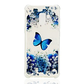 voordelige Galaxy A7(2016) Hoesjes / covers-hoesje Voor Samsung Galaxy A3 (2017) / A5 (2017) / A7 (2017) Schokbestendig / Transparant / Patroon Achterkant Vlinder Zacht TPU