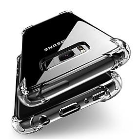voordelige Galaxy S7 Edge Hoesjes / covers-hoesje Voor Samsung Galaxy S9 / S9 Plus / S8 Plus Schokbestendig / transparante Body Achterkant Effen Zacht TPU