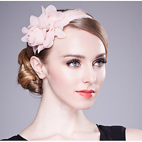 cheap Women's Accessories-Chiffon Headbands with Feather / Floral 1 Piece Wedding / Birthday Headpiece