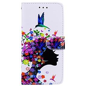 Недорогие Чехлы и кейсы для Galaxy Note 8-Кейс для Назначение SSamsung Galaxy Note 8 Кошелек / Бумажник для карт / со стендом Чехол Соблазнительная девушка Твердый Кожа PU