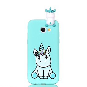 cheap Galaxy A3(2016) Cases / Covers-Case For Samsung Galaxy A3(2017) / A5(2017) / A5(2016) Pattern / DIY Back Cover Unicorn Soft TPU