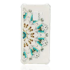 voordelige Galaxy A7(2016) Hoesjes / covers-hoesje Voor Samsung Galaxy A3 (2017) / A5 (2017) / A7 (2017) Schokbestendig / Patroon Achterkant Bloem Zacht TPU
