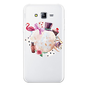 voordelige Galaxy J7 Hoesjes / covers-hoesje Voor Samsung Galaxy J7 (2017) / J7 (2016) / J7 Patroon Achterkant dier / Cartoon / Bloem Zacht TPU
