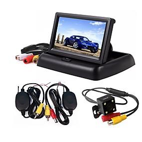 voordelige Auto-elektronica-ziqiao 3-in-1 draadloze parkeercamera monitor video-systeem opvouwbare inklapbare automonitor met draadloze camera-kit voor achteruitrijcamera