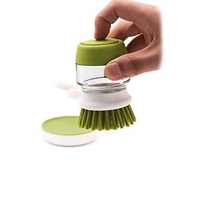 billige Håndholdte børster og vinduesskrabere-Køkken Rengørings midler Plastik / glas Rengøringsbørste og klud Kreativ Køkkengadget 1pc
