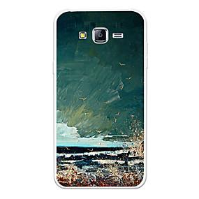 Недорогие Чехлы и кейсы для Galaxy J3(2016)-Кейс для Назначение SSamsung Galaxy J7 (2017) / J7 (2016) / J7 С узором Кейс на заднюю панель Пейзаж / Мультипликация Мягкий ТПУ