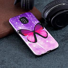 voordelige Galaxy J3 Hoesjes / covers-hoesje Voor Samsung Galaxy J7 (2017) / J5 (2017) / J3 (2017) Patroon Achterkant Vlinder Hard PC