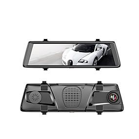 hesapli DVR samochodowe-V6 1080p Gece görüşü Araba DVR'si 150 Derece Geniş açı 10.1 inç IPS Dash Cam ile WIFI / GPS / G-Sensor Araba Kaydedici / park Modu