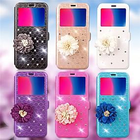 voordelige Galaxy J3 Hoesjes / covers-hoesje Voor Samsung Galaxy J7 (2016) / J5 (2016) / J3 (2016) Kaarthouder / Strass / met standaard Volledig hoesje Geometrisch patroon Hard PU-nahka