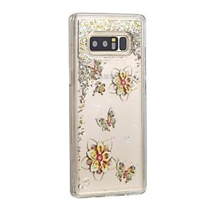 Недорогие Чехлы и кейсы для Galaxy Note 8-Кейс для Назначение SSamsung Galaxy Note 8 Движущаяся жидкость Кейс на заднюю панель Бабочка / Сияние и блеск Твердый ПК
