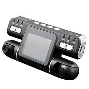Недорогие Видеорегистраторы для авто-F105 1080p Ночное видение / Контроль 360 ° / Двойной объектив Автомобильный видеорегистратор 120° Широкий угол КМОП-структура 2.7 дюймовый LCD Капюшон с Обноружение движения Автомобильный рекордер