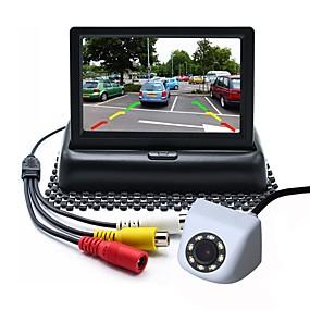 Недорогие Автоэлектроника-ziqiao 4,3-дюймовый tft-lcd ccd проводной 170-градусный комплект заднего вида автомобиля складной водонепроницаемый для автомобиля
