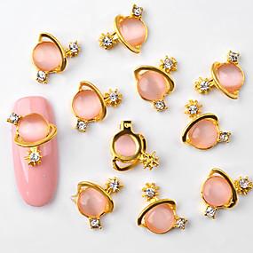 رخيصةأون المكياج-10 pcs أنيق أحجار الراين مجوهرات الكعكة / تصميم فن الأظافر / أشكال فن الأظافر
