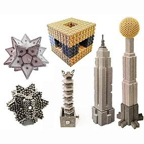 povoljno Igračke i razonoda-1000 pcs Magnetne igračke Magnetske kuglice Magnetne igračke Kocke za slaganje Snažni magneti Magnetska igračka S magnetom Stres i anksioznost reljef Uredske stolne igračke Oslobađa ADD, ADHD
