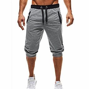 זול $3.99-בגדי ריקוד גברים בסיסי / סגנון רחוב יומי ספורט חגים צ'ינו / שורטים מכנסיים - קולור בלוק שחור ואפור, טלאים / שרוך קיץ סתיו שחור אפור כהה אפור בהיר L XL XXL / חוף