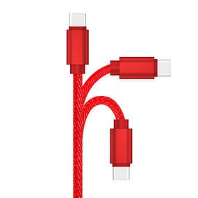 levne Mi 9-Typ C Kabel 1m-1.99m / 3ft-6ft Rychlé nabíjení slitina zinku Adaptér kabelu USB Pro Samsung / Huawei / LG