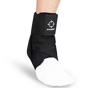 baratos Exercício e Fitness-Tornozeleira para Corrida Badminton Basquete Vestir fácil Ajustável Material de Protecção Náilon 1pç Treino Atlético Preto