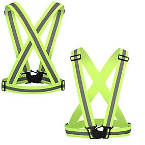 olcso Sport & fitnesz-Fényvisszaverő mellény 2pcs Hordozható / Könnyű Egyéb mert Futás / Kerékpározás
