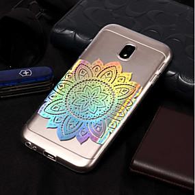 voordelige Galaxy J7(2017) Hoesjes / covers-hoesje Voor Samsung Galaxy J7 (2017) / J7 (2016) / J7 Beplating / Patroon Achterkant Mandala Zacht TPU