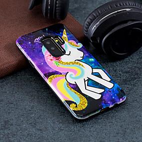 voordelige Galaxy S7 Hoesjes / covers-hoesje Voor Samsung Galaxy S9 / S9 Plus / S8 Plus Patroon Achterkant Eenhoorn Hard PC