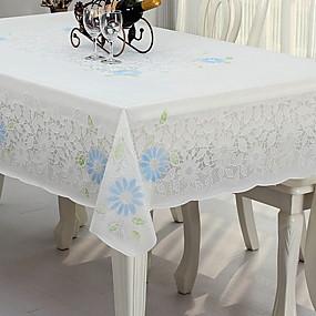 رخيصةأون شرشفات الطاولة-زهري PVC مربع قماش الطاولة ورد الجدول ديكورات 1 pcs