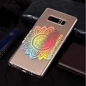 Недорогие Чехлы и кейсы для Galaxy Note 8-Кейс для Назначение SSamsung Galaxy Note 8 Покрытие / С узором Кейс на заднюю панель Мандала Мягкий ТПУ