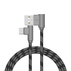 levne Xiaomi-Typ C Kabel 1m-1.99m / 3ft-6ft Rychlé nabíjení hliník / TPE Adaptér kabelu USB Pro Samsung / Huawei / LG