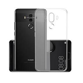 Недорогие Чехлы и кейсы для Huawei Mate-Кейс для Назначение Huawei Mate 10 pro Прозрачный Кейс на заднюю панель Однотонный Мягкий ТПУ