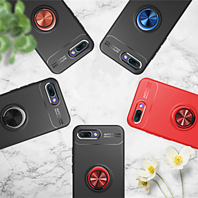 voordelige Huawei Honor hoesjes / covers-hoesje Voor Huawei Huawei Honor 10 / Honor 9 / Huawei Honor 9 Lite Ringhouder Achterkant Effen Zacht TPU