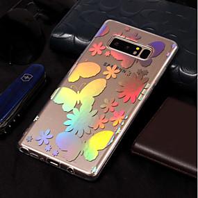 Недорогие Чехлы и кейсы для Galaxy Note 8-Кейс для Назначение SSamsung Galaxy Note 8 Покрытие / С узором Кейс на заднюю панель Бабочка Мягкий ТПУ