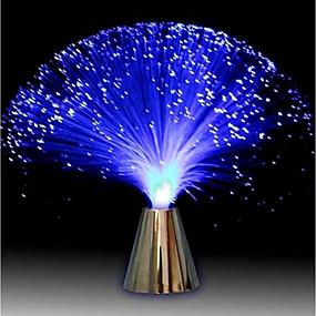 cheap LED Novelty Lights-Multicolor LED Fiber Optic Lamp Light Holiday Wedding Centerpiece Optic Fiber LED Lighting Living Room Night Decoration