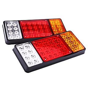 voordelige Auto-achterverlichting-1 paar 12 v 36 led auto vrachtwagen achterlicht waarschuwingslichten achterlichten waterdichte achterlichten achterste onderdelen voor trailer truck